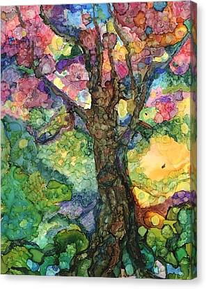 Magical Tree Canvas Print by Lin Deahl