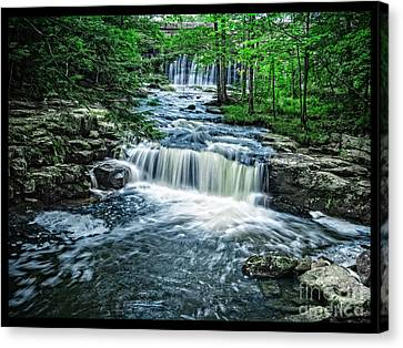 Magical Waterfall Stream Canvas Print by Edward Fielding