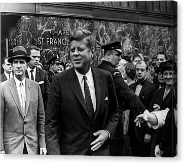 Francis Canvas Print - John F. Kennedy by Retro Images Archive
