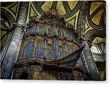 Magnificent Pipe Organ Canvas Print by Lynn Palmer