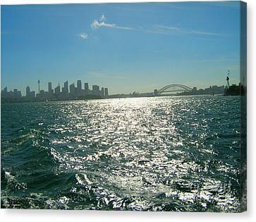 Canvas Print featuring the photograph Magnificent Sydney Harbour by Leanne Seymour