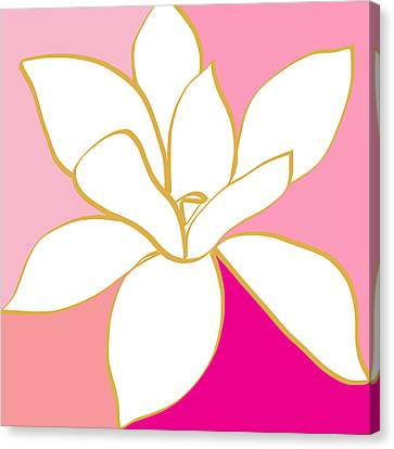 Magnolia 1- Colorful Painting Canvas Print