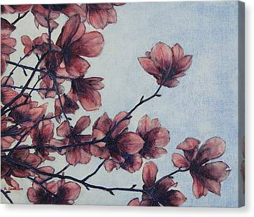 Canvas Print featuring the painting Magnolia by Andrew Danielsen