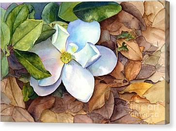 Canvas Print featuring the painting Magnolia by Bonnie Rinier