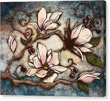 Magnolia Branch I Canvas Print by April Moen