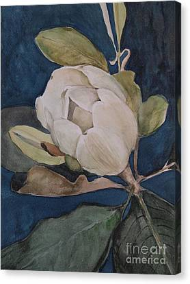 Canvas Print featuring the painting Magnolia Evening by Nancy Kane Chapman