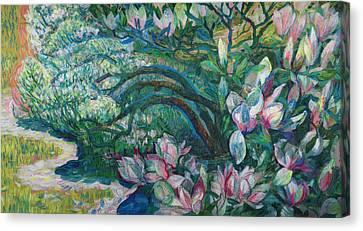 Magnolia In Ordrupgaard Canvas Print