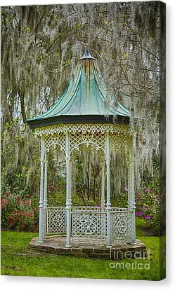Magnolia Plantation Gazebo Canvas Print by Carrie Cranwill