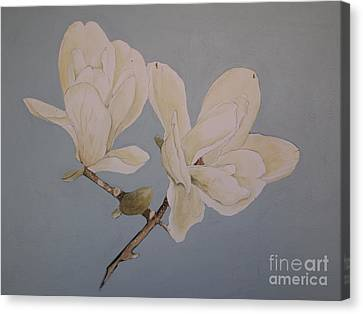 Canvas Print featuring the painting Magnolia Sun Ray by Nancy Kane Chapman