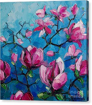Magnolias For Ever Canvas Print by Mona Edulesco