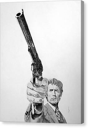 Magnum Force Clint Eastwood Canvas Print by Dan Twyman