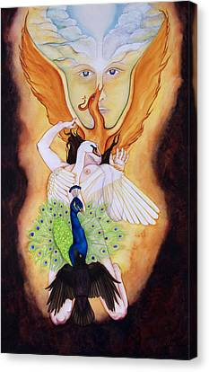 Magnum Opus An Allegory Of Spiritual Alchemy Canvas Print by Rebecca Barham