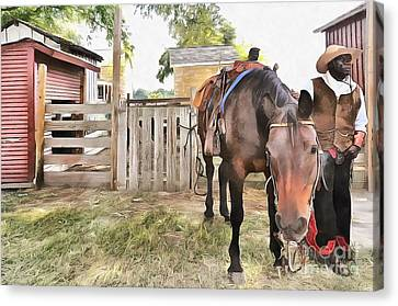 Mahaffie Stagecoach Stop And Farm Canvas Print by Liane Wright