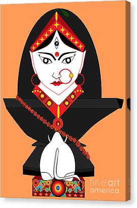 Mahagauri Canvas Print by Pratyasha Nithin