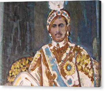 Canvas Print featuring the painting Maharaja Jai Singh by Vikram Singh