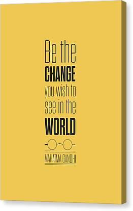 Modern Digital Art Digital Art Canvas Print - Mahatma Gandhi Quote Motivational Print Poster by Lab No 4 - The Quotography Department