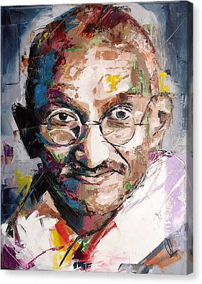 Punjab Canvas Print - Mahatma Gandhi by Richard Day