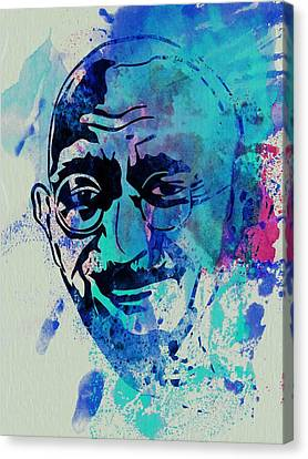 Mahatma Gandhi Watercolor Canvas Print by Naxart Studio