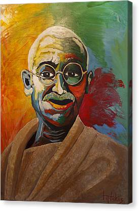 Mahatma Canvas Print by George Tatakis