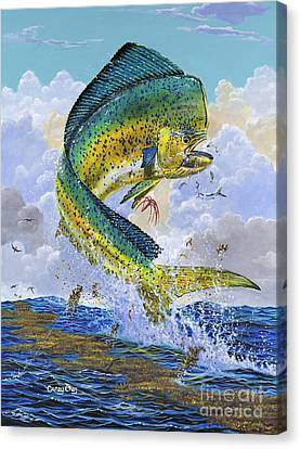 Swordfish Canvas Print - Mahi Hookup Off0020 by Carey Chen