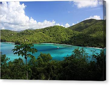 Canvas Print featuring the photograph Maho Bay by Heather Green
