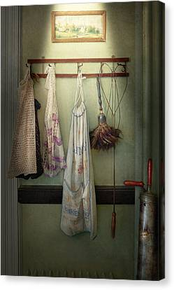 Maid - Always So Much Housework Canvas Print by Mike Savad