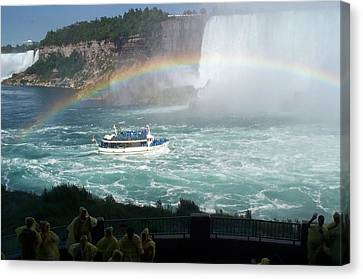 Canvas Print featuring the photograph Maid Of The Mist -41 by Barbara McDevitt