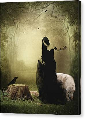 Maiden Of The Forest Canvas Print by Sharon Lisa Clarke