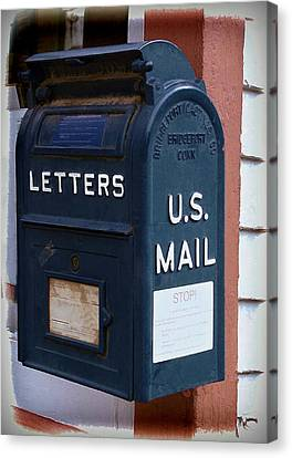 Mail Box At The Post Office Canvas Print by Ken Smith