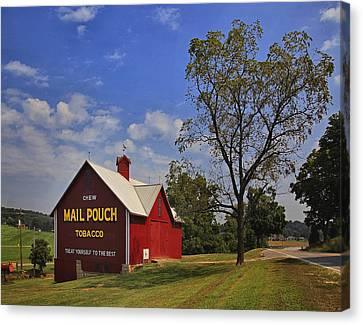 Canvas Print featuring the photograph Mail Pouch Barn by Wendell Thompson