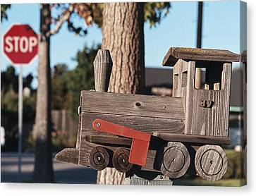 Stop Sign Canvas Print - Mail Stop by Caitlyn  Grasso