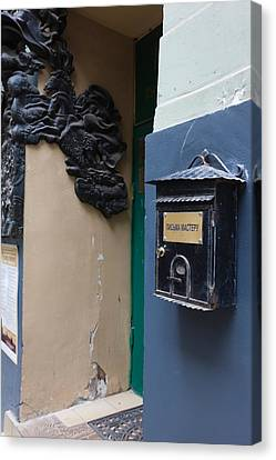 Mailbox At Bulgakov House Museum Canvas Print by Panoramic Images