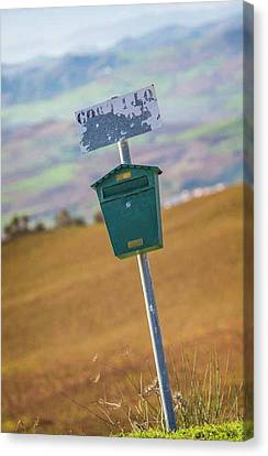 Mailbox, Spain Canvas Print by Ken Welsh