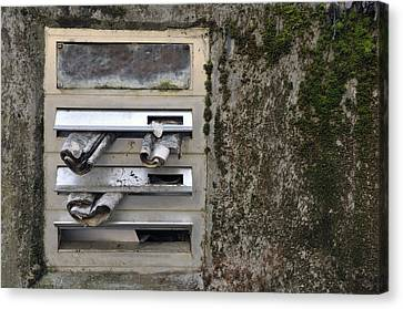 Mailbox With Old Newspapers Canvas Print by Matthias Hauser