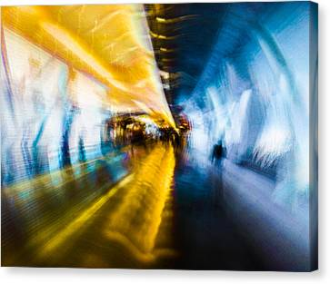 Canvas Print featuring the photograph Main Access Tunnel Nyryx Station by Alex Lapidus