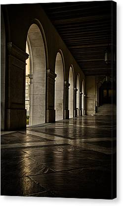 University Of Texas Canvas Print - Main Building Arches University Of Texas by Joan Carroll
