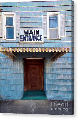 Main Entrance Canvas Print by MaryJane Armstrong