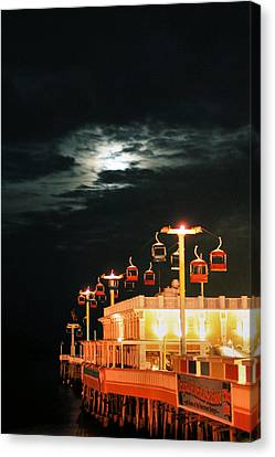 Main St Pier Sky Lift Canvas Print by Paulette Maffucci