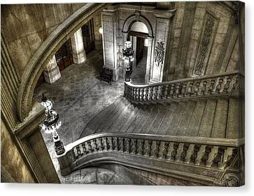 Main Staircase From Above Canvas Print by Ed Cilley