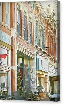 Main Street America Street Scene Photograph Canvas Print by Ann Powell