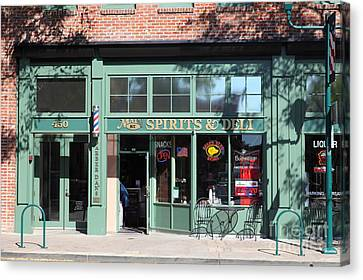 Main Street Americana Pleasanton California 5d23985 Canvas Print by Wingsdomain Art and Photography