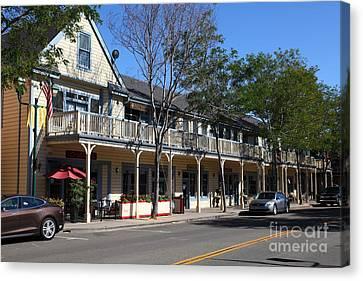 Main Street Americana Pleasanton California 5d23986 Canvas Print by Wingsdomain Art and Photography