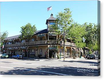 Main Street Americana Pleasanton California 5d23987 Canvas Print by Wingsdomain Art and Photography