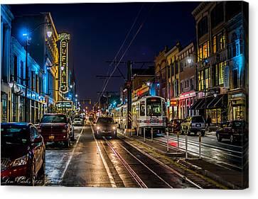 Main Street Blues Canvas Print
