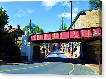 Main Street - Ellicott City Canvas Print by Dana Sohr