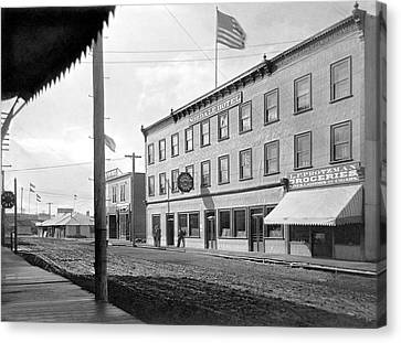 Main Street In Fairbanks Canvas Print by Underwood Archives