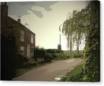Main Street In Hollington, Heading Out Of The Village Canvas Print