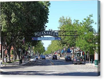 Main Street Pleasanton California 5d23979 Canvas Print by Wingsdomain Art and Photography