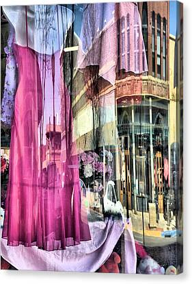 Main Street Reflections Canvas Print