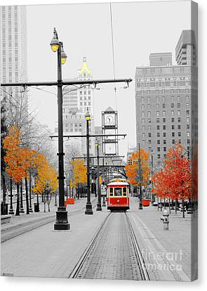 Main Street Trolley  Canvas Print